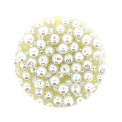 Pearl Renaissance, 4mm, 100 Stück, weiß