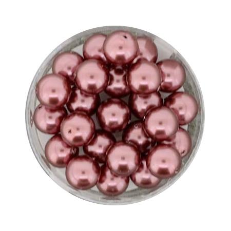 Pearl Renaissance, 8mm, 25 Stück, dunkles altrosa