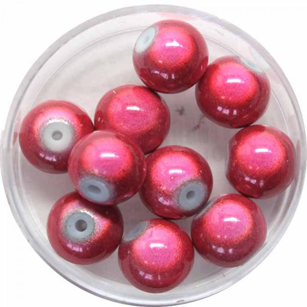 Miracle-Beads Glasperlen, 10 Stck., 10mm, altrosa