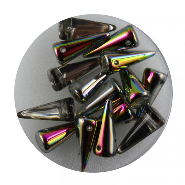 Spike Beads,5x13mm,15 Stück,vitrail
