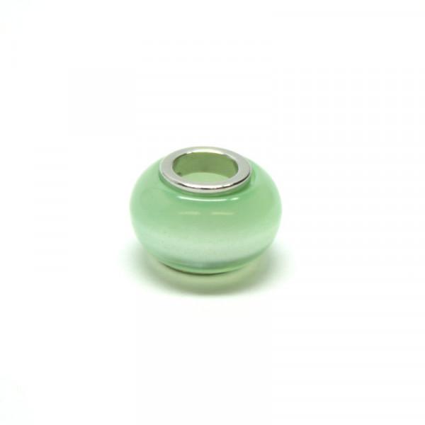 Polaris Großlochperlen, 8x12mm, chrysolite-grün