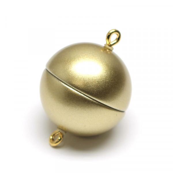 Magnetverschluss, 18mm, gold matt