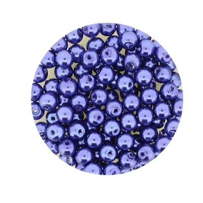 Pearl Renaissance, 4mm, 100 Stück, graublau