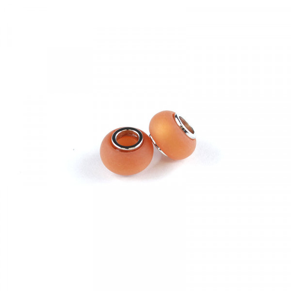 Polaris Großlochperlen matt, 8x12mm, orange