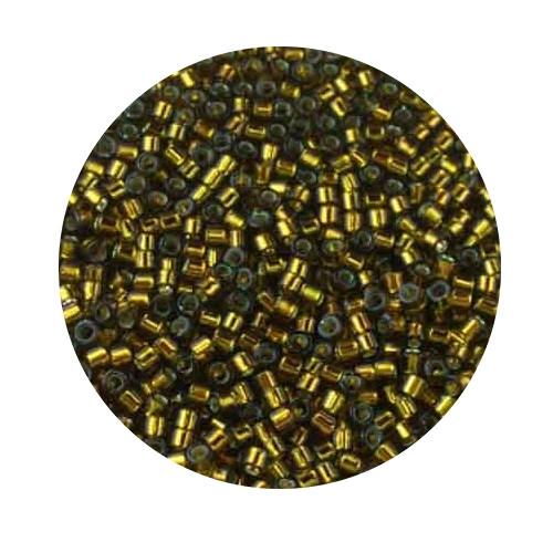 Miyuki Delicas, 11/0 (2,0mm), 7gr. Dose,silverlined gold oliv