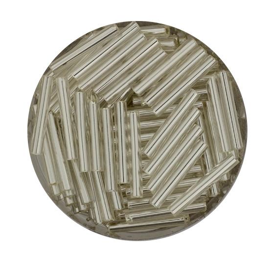 Glasstift, Silbereinzug, 15 mm, 17gr. Dose, kristall