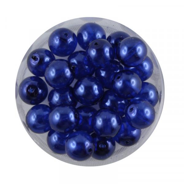 Crystal Pearl Renaissance, 8mm, 25 Stück, dunkelblau