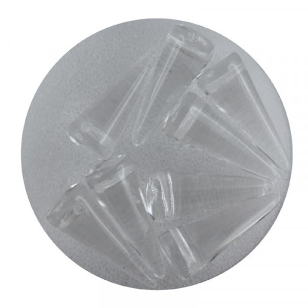 Spike Beads,7x17mm,8 Stück,kristall