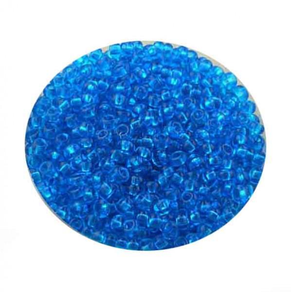 Rocailles, transparent glänzend, 2,6mm, 17gr. Dose, türkis