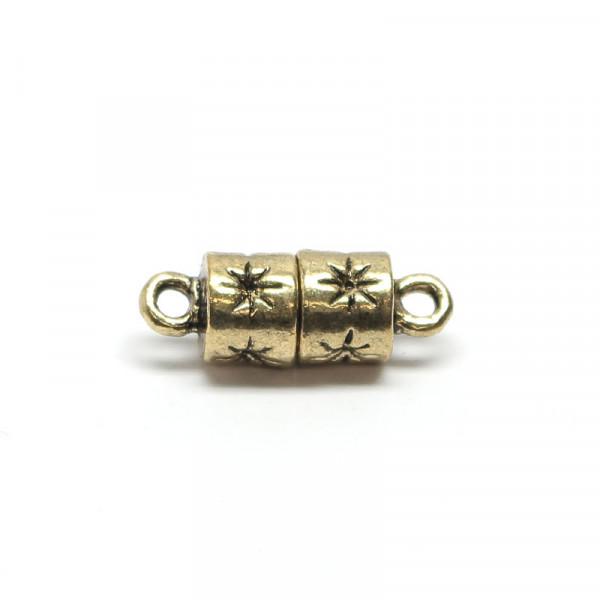 Magnetverschluss, 6x10 mm, altgold, Sterne