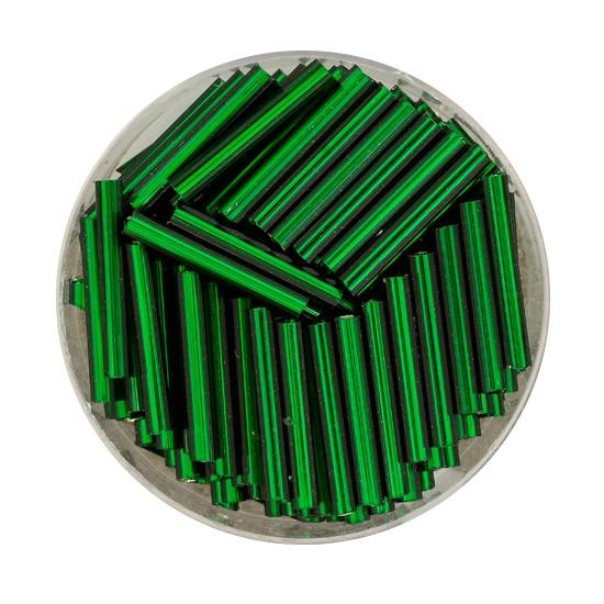 Glasstift, Silbereinzug, 15 mm, 17gr. Dose, dunkelgrün