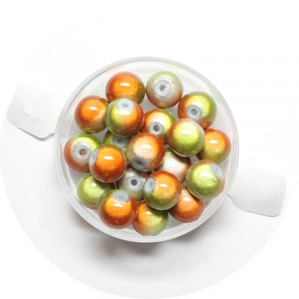 Miracle-Beads Glasperlen, 20 Stck., 8mm, orange-grün