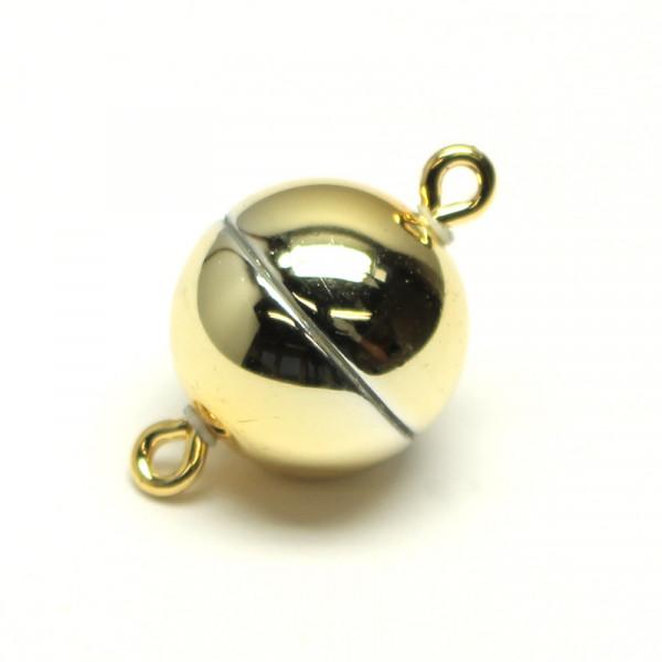 Magnetverschluss, 10mm,gold glänzend