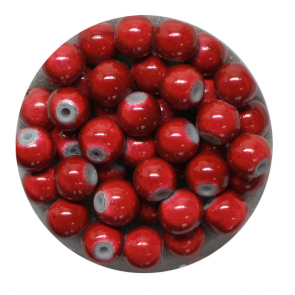 Miracle-Beads Glasperlen, 40 Stck., 6mm, rot