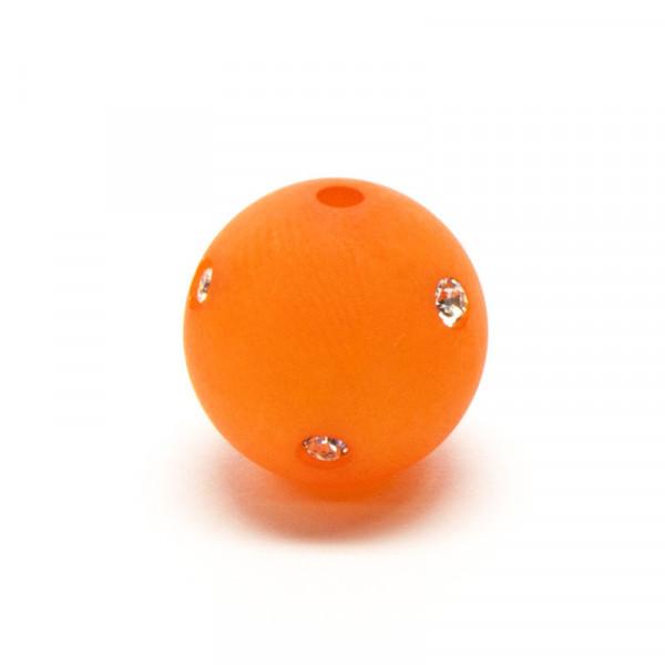 Polaris Strassperlen, 14mm, orange