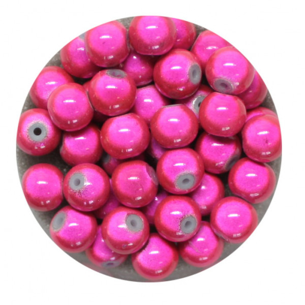 Miracle-Beads Glasperlen, 40 Stck., 6mm, pink