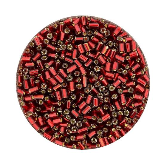 Glasstift, Silbereinzug, 2 mm, 17gr. Dose, rot