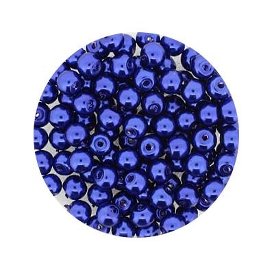 Pearl Renaissance, 4mm, 100 Stück, dunkelblau