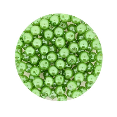Pearl Renaissance, 4mm, 100 Stück, mai grün