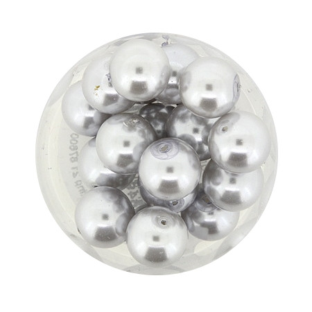 Pearl Renaissance, 10mm, 20 Stück, hellgrau