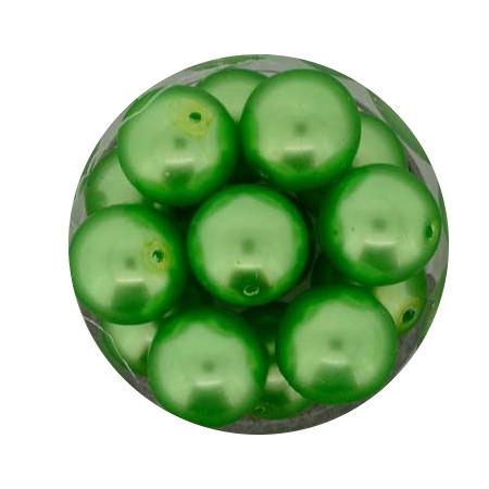 Pearl Renaissance, 12mm, 14 Stück, mai grün
