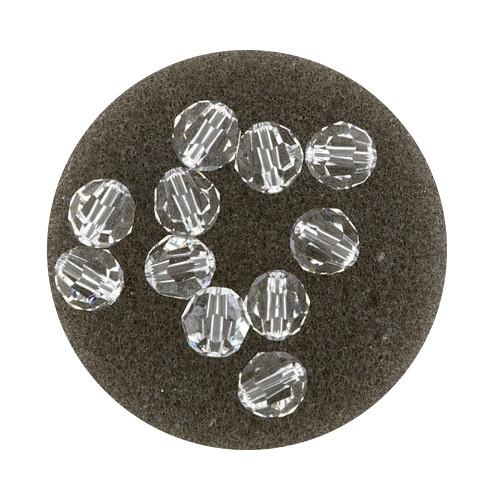 Swarovski Glasperlen, 6 mm, 5 Stück,crystal