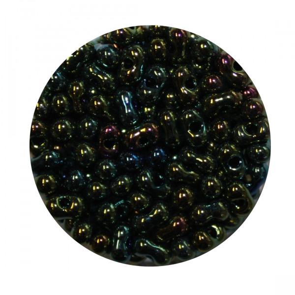 Farfalle, Silbereinzug, 6,5mm, 17gr Dose, grün iris