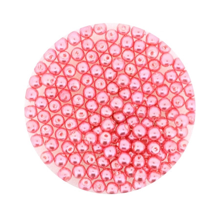 Pearl Renaissance, 3mm, 120 Stück, rosa