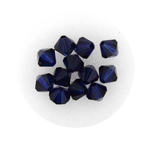 Swarovski Doppelkegel, 6 mm, 12 Stück,black diamond