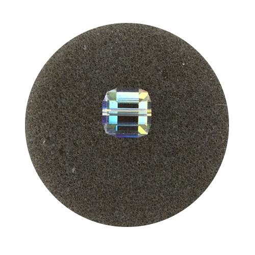 Swarovski Würfel, quer gestochen, 8mm, crystal AB