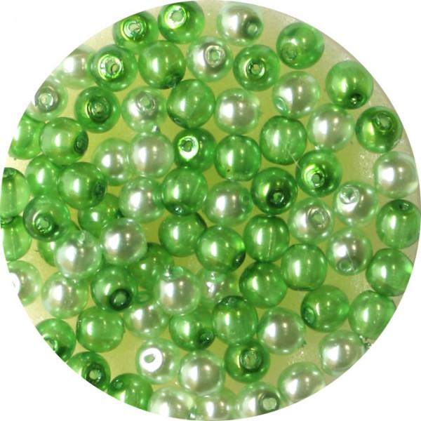 Crystal Pearl Renaissance, 4mm, 75 Stück, grün-ton