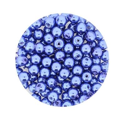 Pearl Renaissance, 4mm, 100 Stück, blau