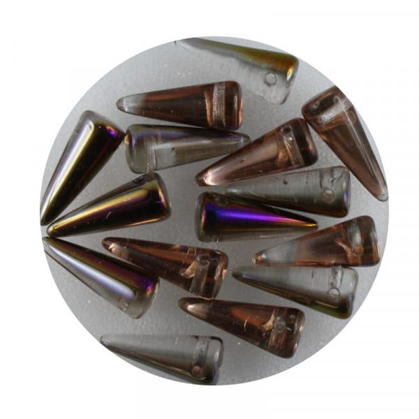 Spike Beads,5x13mm,15 Stück,kristall kupfer AB