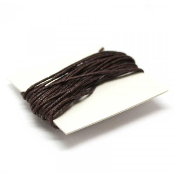 Baumwollkordel, 3 m, 1 mm, dunkelbraun