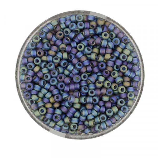 Miyuki Rocailles 2,2 mm - matt indian safir rainbow