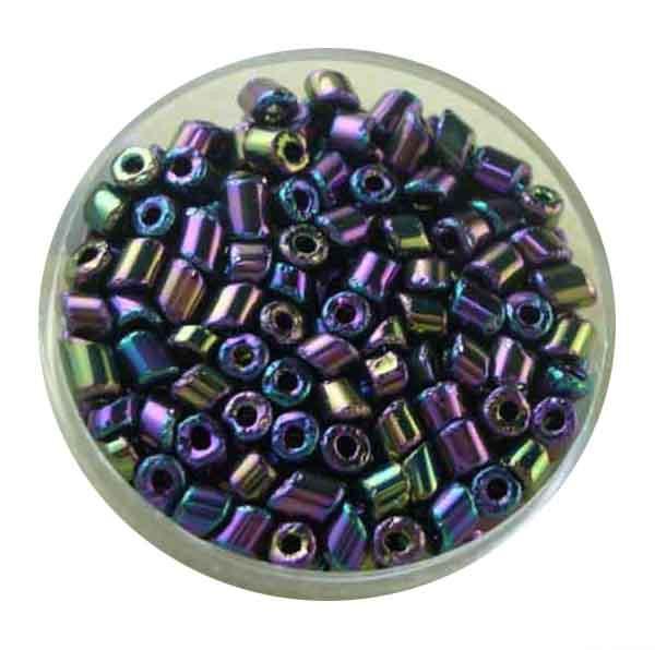 Glasperlen Cremette, opak glänzend, 4-6 mm, scarabe