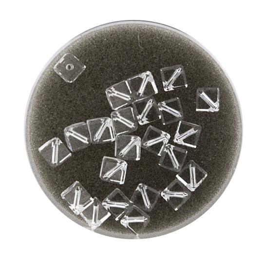 Swarovski Würfel, diagonal gestochen, 4mm, 3St.,crystal