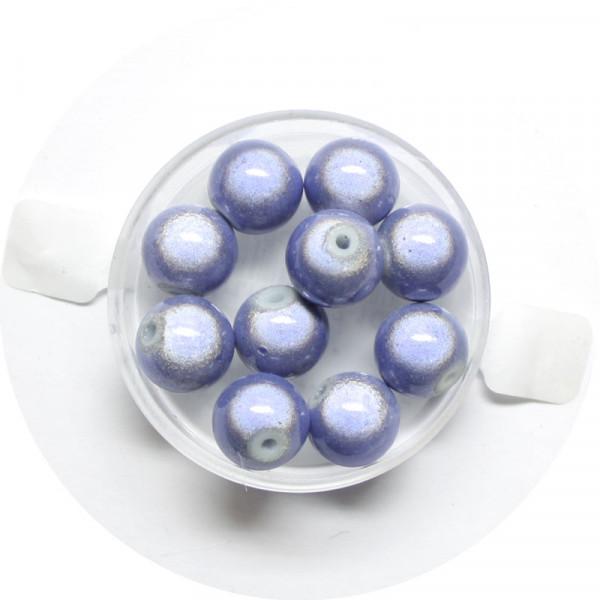 Miracle-Beads Glasperlen, 10 Stck., 10mm, tanzanite
