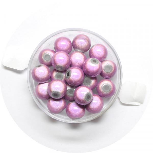 Miracle-Beads Glasperlen, 20 Stck., 8mm, helllila
