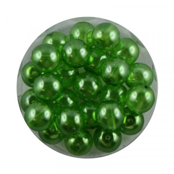 Crystal Pearl Renaissance, 8mm, 25 Stück, grün