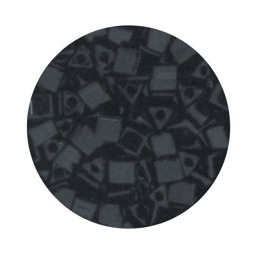 Sharp Triangle Beads, 2,5mm, 17gr. Dose, black glazed