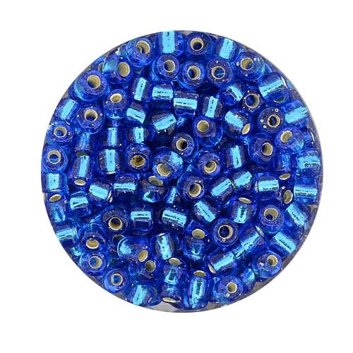Rocailles aus China, 17gr. Dose, 4mm,aqua silbereinzug