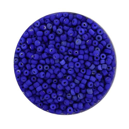 Rocailles aus China, 17gr. Dose, 2,6mm, dunkelblau matt