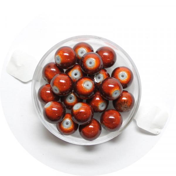 Miracle-Beads Glasperlen, 20 Stck., 8mm, braun