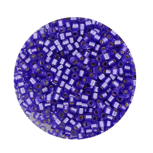 Miyuki Delicas, 10/0 (2,2mm), 7gr. Dose,silverlined purple