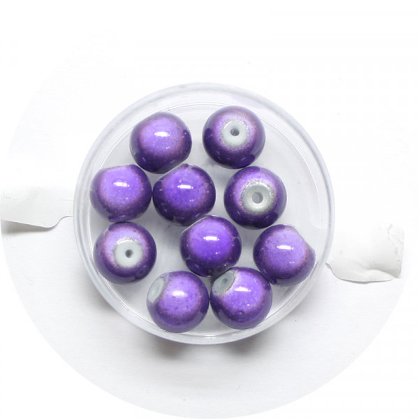 Miracle-Beads Glasperlen, 10 Stck., 10mm, lila