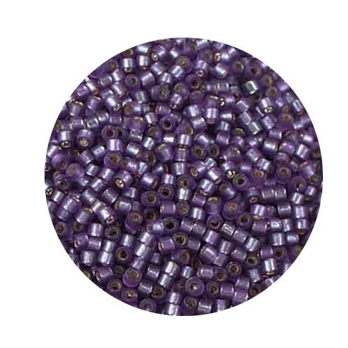 Miyuki Delicas, 11/0 (2,0mm), 7gr. Dose,silverlined lilac matt