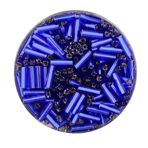 Glasstift, Silbereinzug, 6 mm, 17gr. Dose, safir