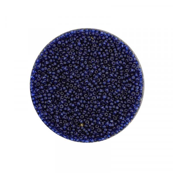 Mini-Rocailles, transparent glänzend, 1,0mm, 10gr. Dose, montan