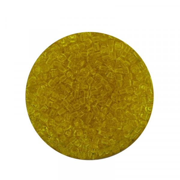 Mini-Rocailles, transparent glänzend, 1,0mm, 10gr. Dose, zitrone